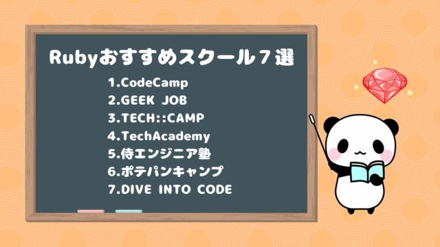 Rubyおすすめプログラミングスクール