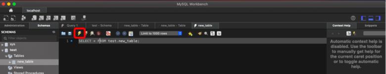 MySQL Workbenchの使い方