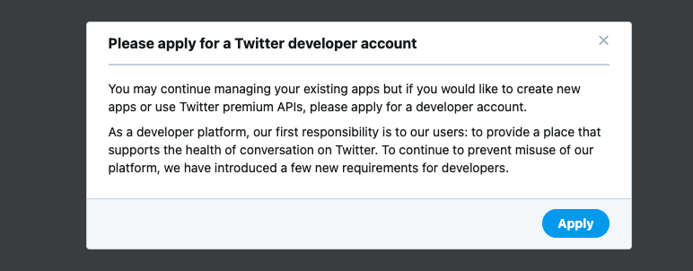 TwitterAPI登録